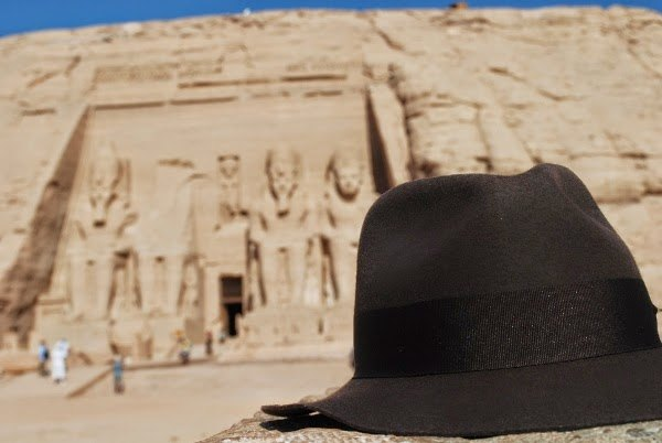 Indiana Jones at Abu Simbel Temple in Egypt