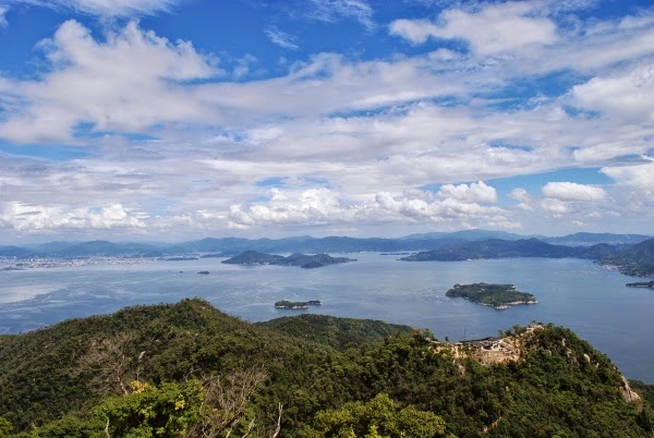 View from the top of Mount Misen on Miyajima Island