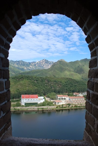 Looking Out from the Great Wall of China at Huanghuacheng