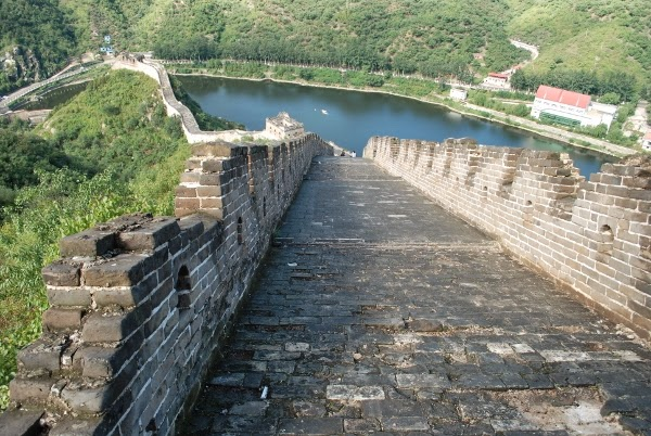 On Top of the Great Wall of China at Huanghuacheng
