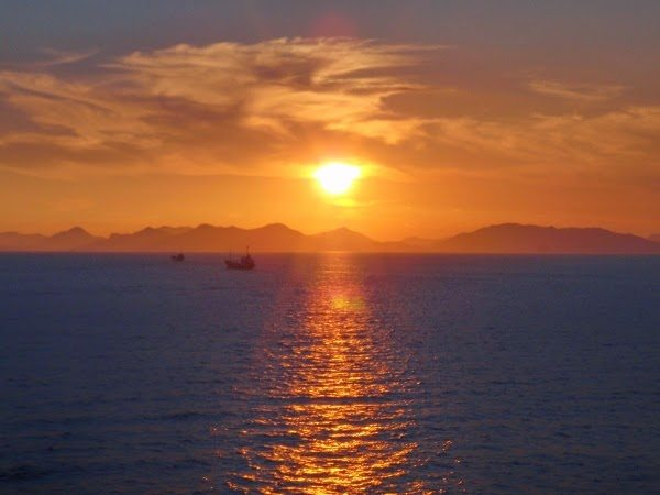 Sunset on the Sea of China