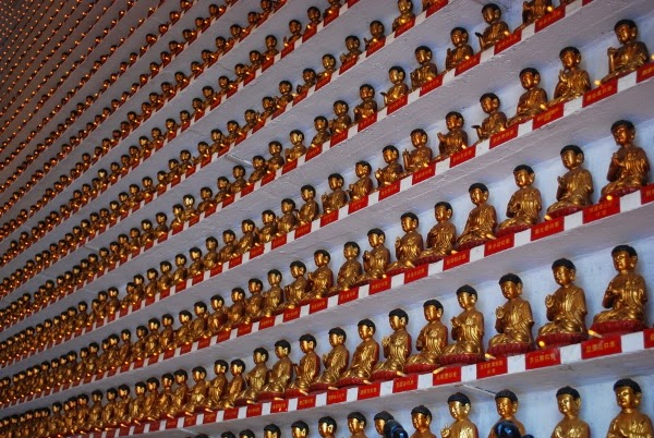 Infinite Hall of Buddhas in Hong Kong