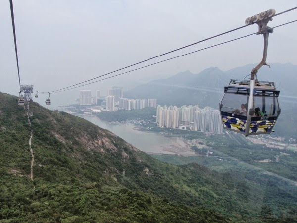Amazing Cable Car to the Top of Lantau in Hong Kong