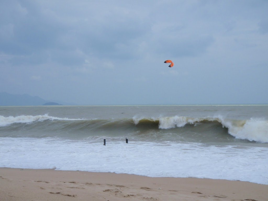 Kite Surfers Acting Crazy in Nha Trang, Vietnam