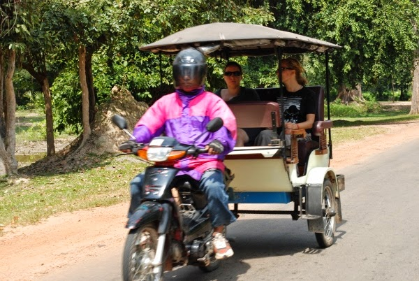Tuk Tuk drivers in Cambodia