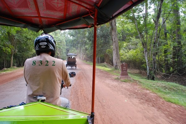 From the tuk tuk at Angkor Wat