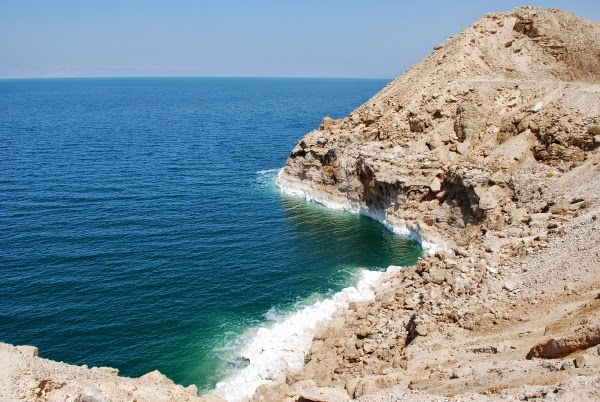The Salty Dead Sea in Jordan