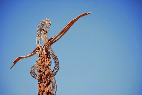 The Serpentine Cross on Mount Nebo in Madaba, Jordan