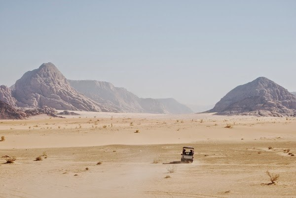 Going out into the Desert of Wadi Rum, Jordan