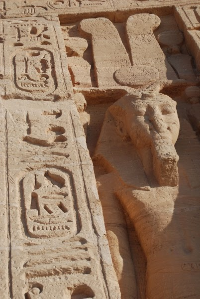 Hieroglyhs at Abu Simbel, Egypt