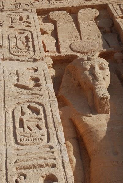 Hieroglyhs at Abu Simbel, Egypt