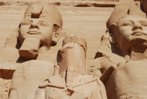 Abu Simbel close up in Egypt