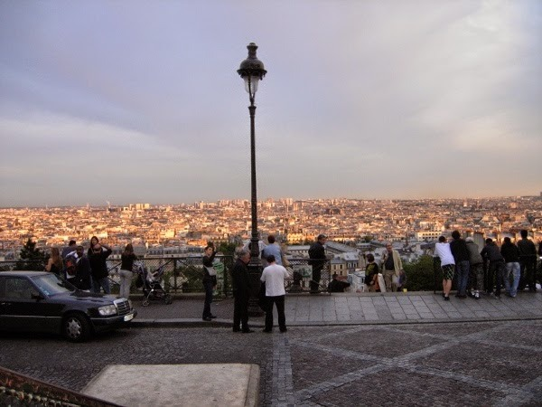 The view of Paris, France, from the Sacre Coeur