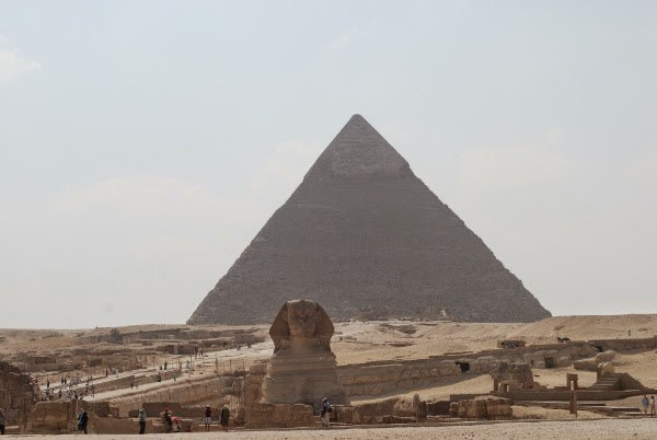 Sphynx and Pyramids of Giza - Cairo, Egypt