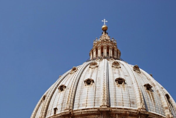 The dome of Saint Peter's Basilica, Vatican City