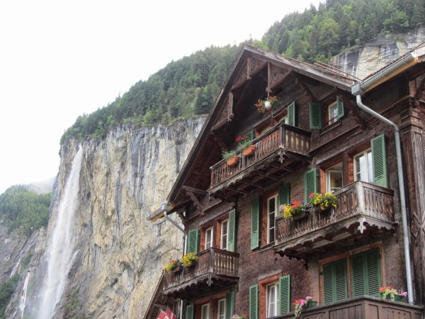 Swiss Chalet at Lauterbrunnen, Switzerland