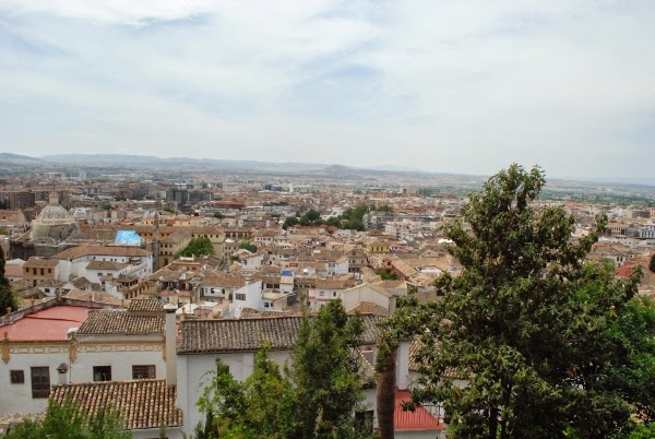 The view from our hotel in Granada on our Spain honeymoon