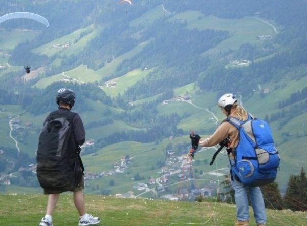 Paragliding in Austria with Contiki
