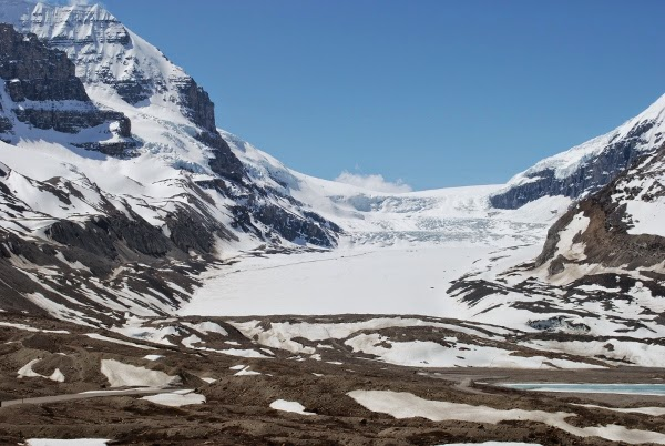 Athabasca Glacier Coming off the Columbia Icefield