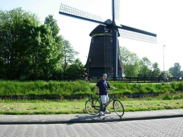 Windmill in Edam, Netherlands
