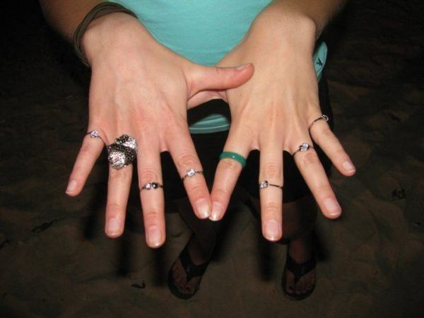 I proposed to Angie when traveling with a ton of plastic wedding rings.