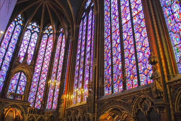 Stained Glass in Saint Chapelle Cathedral - Paris, France