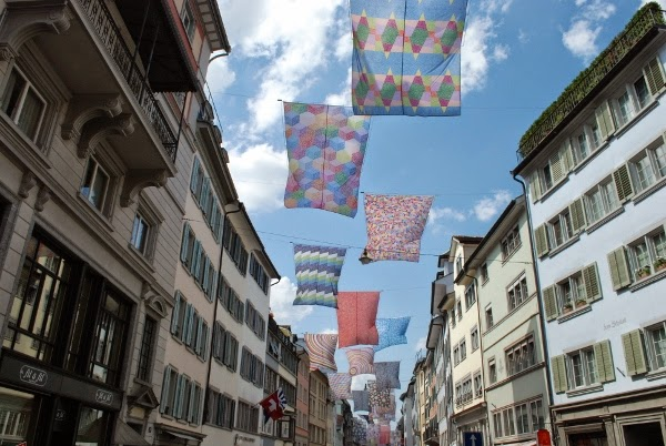 Decorations at Zurich, Switzerland's largest party