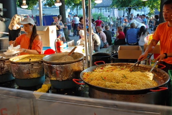 International food at Zurich's largest party