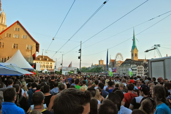 So many people at Zurich's largest party