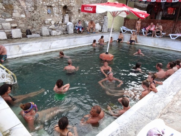 The stinky sulfur pool of Dalyan, Turkey