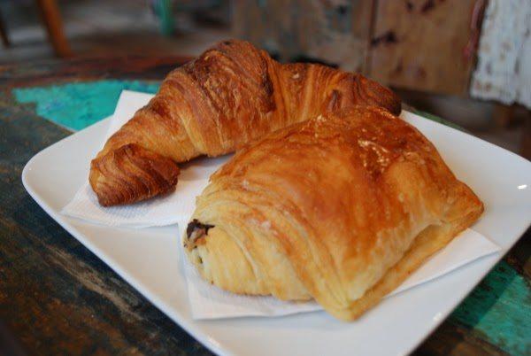 Delicious croissant and pain au chocolat.