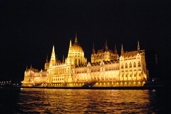 Budapest at Night by the Danube