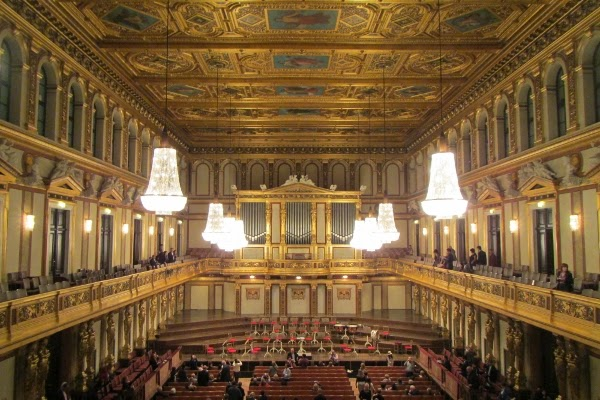 Inside of Vienna Philharmonic Hall - one of the best things to do in Vienna