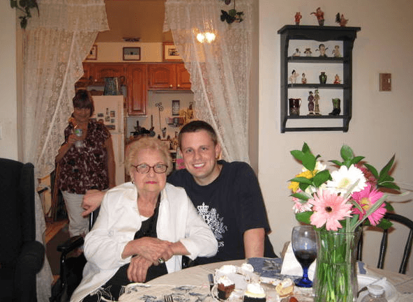 Grandma and me.  Coincidentally I'm wearing a shirt from a place she went to.