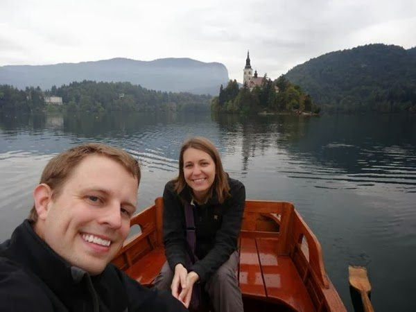Jeremy and Angie at Lake Bled, Slovenia
