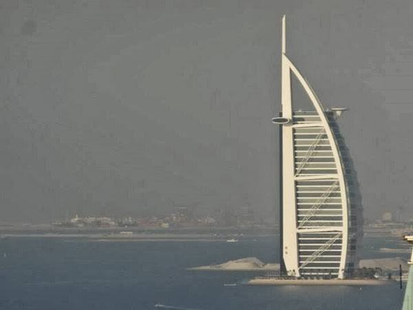 View From Our Suite (Zoomed) at Hilton Dubai Jumeirah Residences