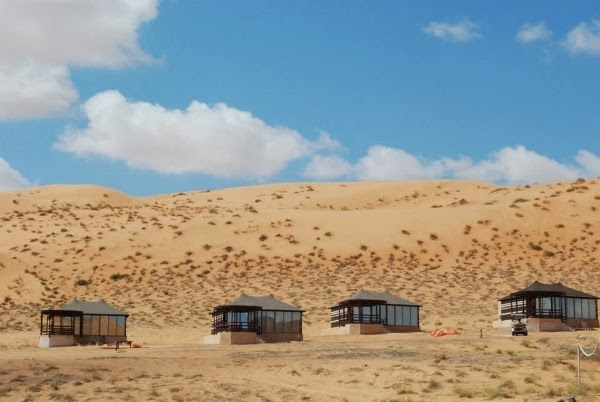 Accommodations in the Wahiba Sands