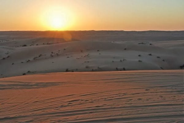 Sunset Over the Omani Desert