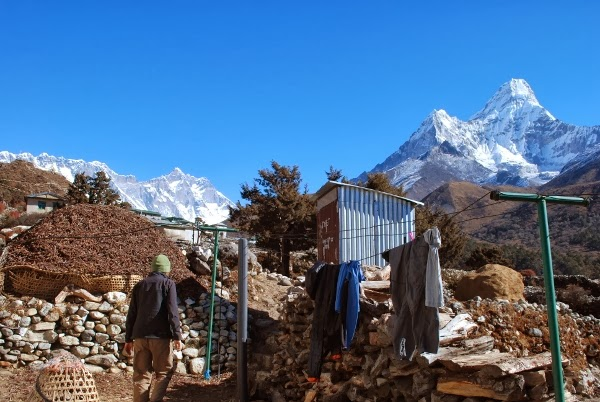 The toilet situation on the Everest Base Camp trek