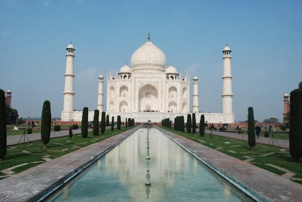 The iconic Taj Mahal in Agra, India