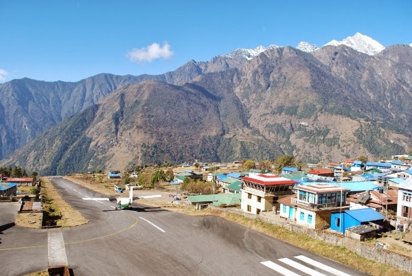 The flight out of Lukla, Nepal. Most dangerous airport in the world.
