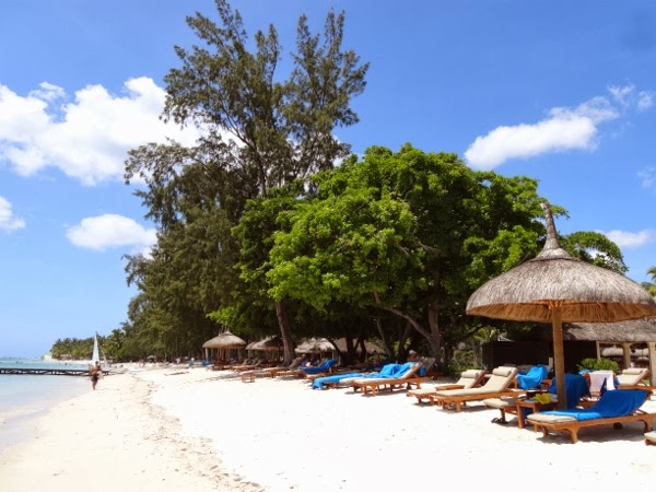 Beautiful Beach at the Hilton Mauritius