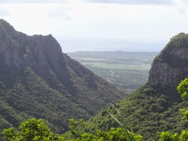 The View from Tamarin Falls, Mauritius