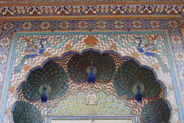 Peacock Door at the City Palace in Jaipur