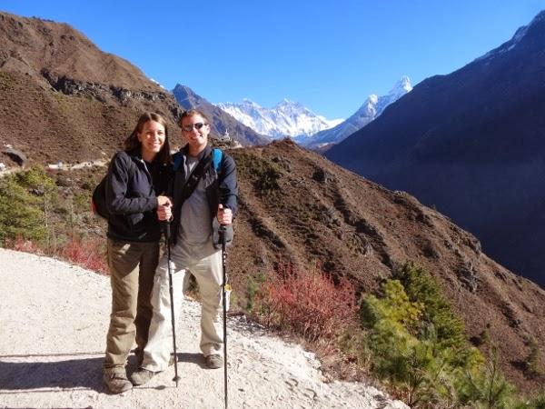 Warm jackets and hiking poles