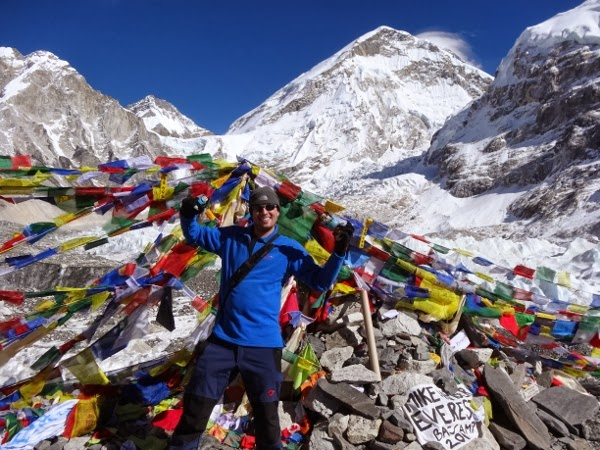 Jeremy rocking the fleeces at Everest Base Camp