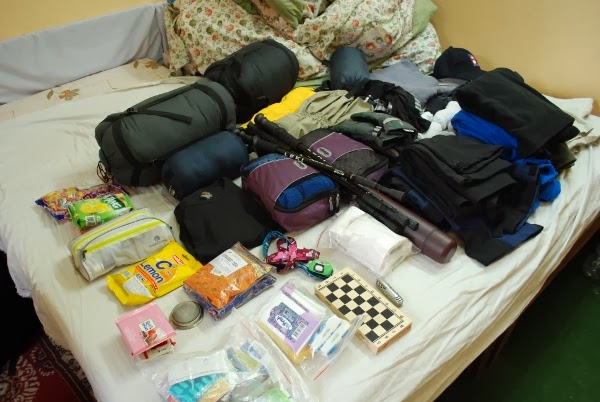 So much gear for the Everest Base Camp Trek