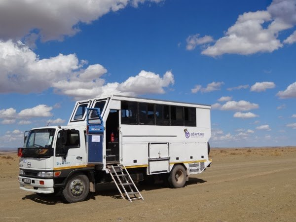 Our mobile prison for 3 weeks on our G Adventures tour.