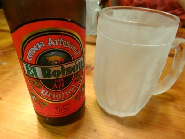 Aji infused beer at El Bolson