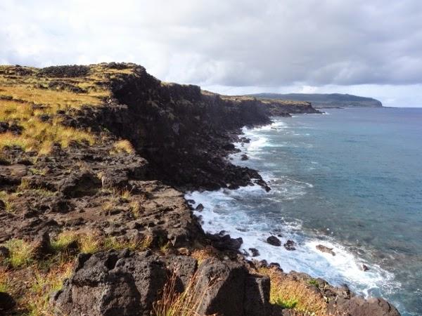 Hiking Along Easter Island's Coastline